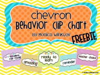 Chevron Behavior Clip Chart ~ FREEBIE