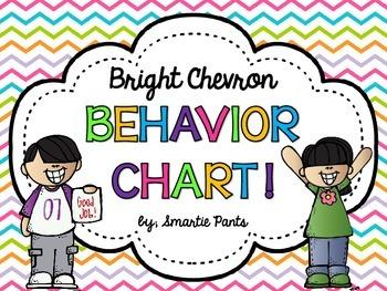 Bright Chevron Behavior Clip Chart