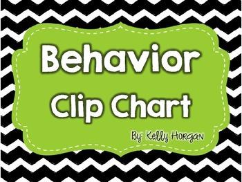 EDITABLE Behavior Clip Chart in ChEvRoN