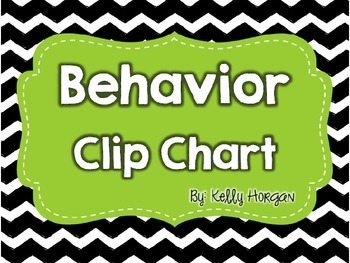 EDITABLE Behavior Clip Chart in ChEvRoN