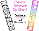 Chevron Behavior Clip Chart - - 2 OPTIONS: Color and Black & White!!