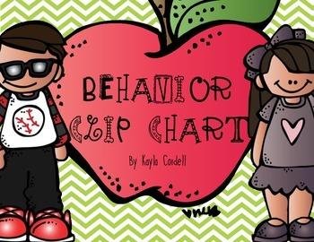 Behavior Clip Chart -- Chevron with Melonheadz Clip Art