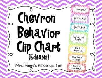 Chevron Behavior Clip Chart (Editable)