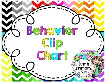 Chevron Behavior Clip Chart Multiple Colors for Magnetic Board