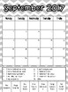 Chevron Behavior Clip Chart and Monthly Calendar Recording Sheet