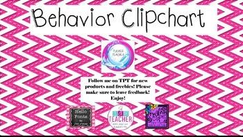 Chevron Behavior Clipchart Flowers