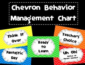 Chevron Behavior Management Chart