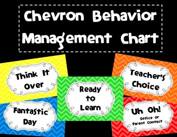 Chevron Behavior Management Chart