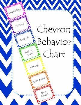 Chevron Behavior Management Clip Chart