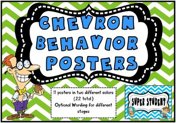 Chevron Behavior Tracking Posters