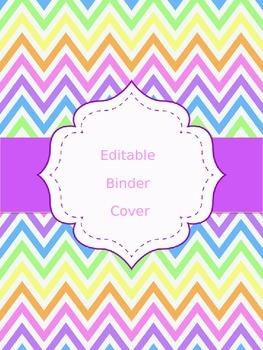 FREE Chevron Binder Cover (EDITABLE)