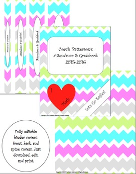 Chevron Binder Cover and Spine Covers
