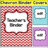 Editable Teacher Binder Covers - Chevron Theme