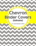 Chevron Binder Covers & Spines {Editable}