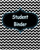Chevron Binder Covers (Editable)