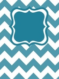 Chevron Binder Covers Editable (White w/colors)