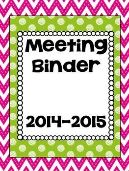 Chevron Binder Covers Freebie for 2014-2015 School Year