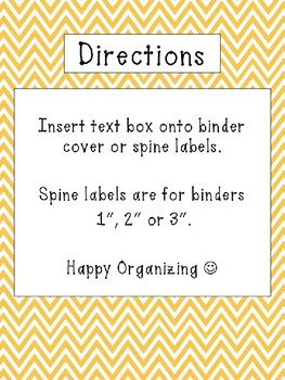 Chevron Binder Covers & Spines