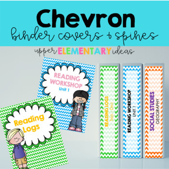Chevron Binder Covers and Spines EDITABLE