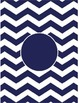 Chevron Binder Covers editable