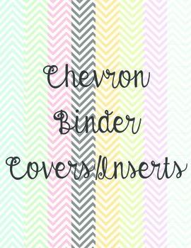 Chevron Binder Insert/Covers