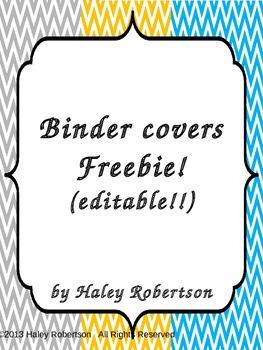 Chevron Binder covers- editable (FREEBIE!)