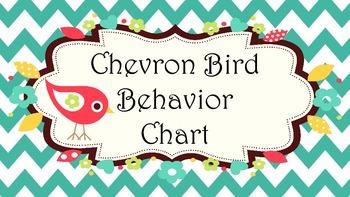 Chevron Bird Behavior Chart
