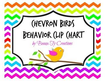 Chevron Bird Behavior Clip Chart