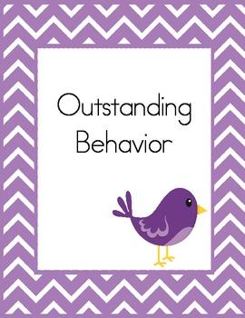 Chevron Birdie Behavior Clip Chart