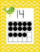 Chevron Birdie Number Wall Posters With Ten Frames, 0-20