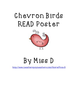 Chevron Birds READ Poster