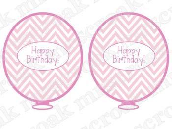 Birthday Balloons: Chevron