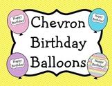 Chevron Birthday Balloons
