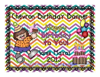 Chevron Birthday Banner