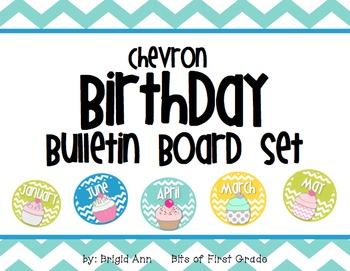 Chevron Birthday Bulletin Board