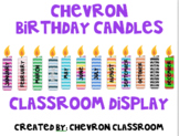 Chevron Birthday Candles Display