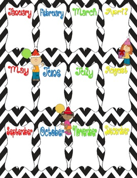 Chevron Birthday Chart