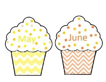 Chevron Birthday Cupcakes