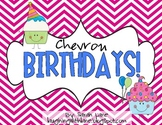Chevron Birthday Month Labels