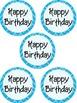 Chevron Birthday tags