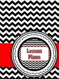 Chevron- Black, White and Red Binder Covers or Divider Ins