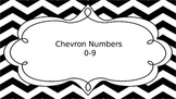 Chevron Black and White Numbers 0-9