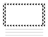 Chevron Blank Handwriting Page