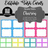 Blank Task Cards - Basics: Chevron | Editable PowerPoint