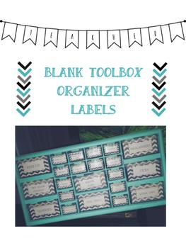 Chevron Blank Toolbox Organizer Labels