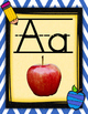 Chevron Blue and Yellow Alphabet Posters with Real Pictures