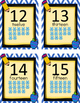 Chevron Blue and Yellow Small Number Posters