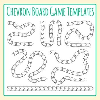 Chevron Board Game Templates / Layouts Clip Art for Commercial Use
