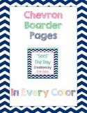 Chevron Boarder Paper in ALL Colors