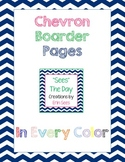 Chevron Boarder Paper in ALL Colors